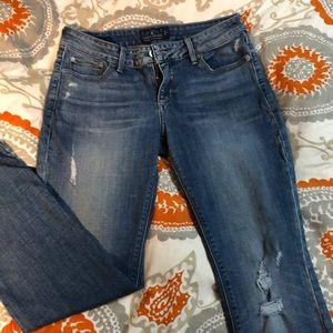Lucky jeans with ragged cut hem